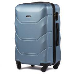 Cestovní kufr WINGS 147 ABS SILVER BLUE velký L