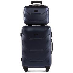 Kosmetický kufřík WINGS 147 ABS SILVER BLUE E-batoh