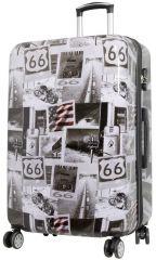 Cestovní polykarbonátový kufr AMERICA velký L
