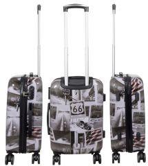 Cestovní polykarbonátový kufr AMERICA střední M MONOPOL E-batoh