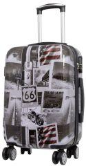 Cestovní polykarbonátový kufr AMERICA malý S