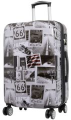 Cestovní polykarbonátový kufr AMERICA střední M