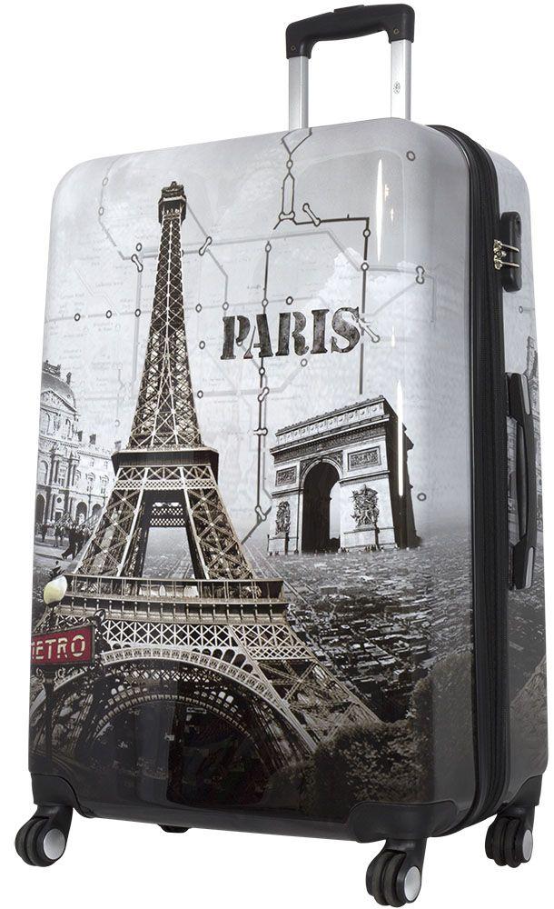 Cestovní kufr PARIS II velký L