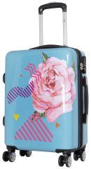 Cestovní polykarbonátový kufr RŮŽE malý S