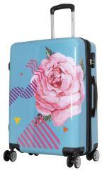 Cestovní polykarbonátový kufr RŮŽE střední M