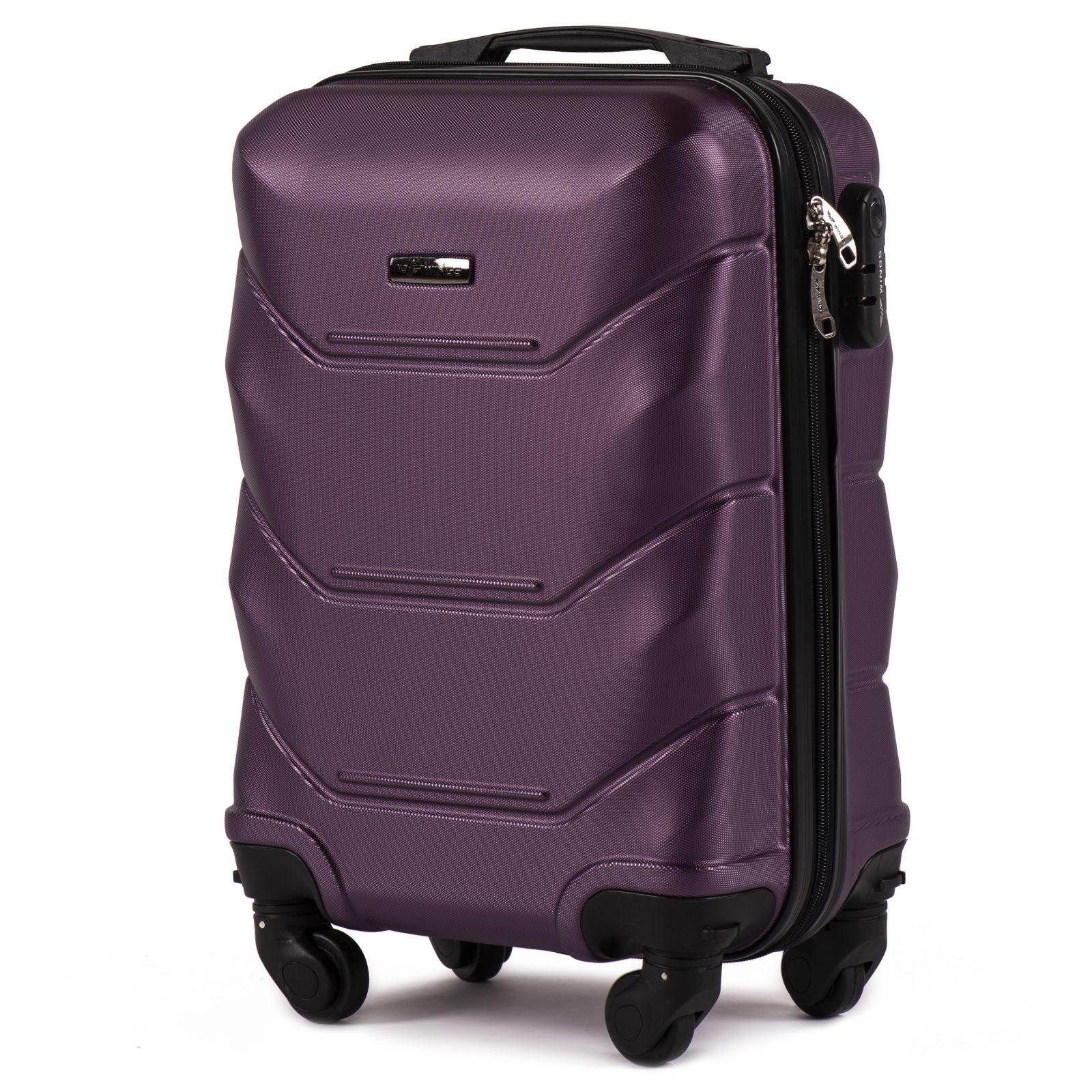 Cestovní kufr WINGS 147 ABS DARK PURPLE malý xS