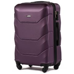 Cestovní kufr WINGS 147 ABS DARK PURPLE střední M