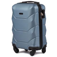 Cestovní kufr WINGS 147 ABS SILVER BLUE malý xS