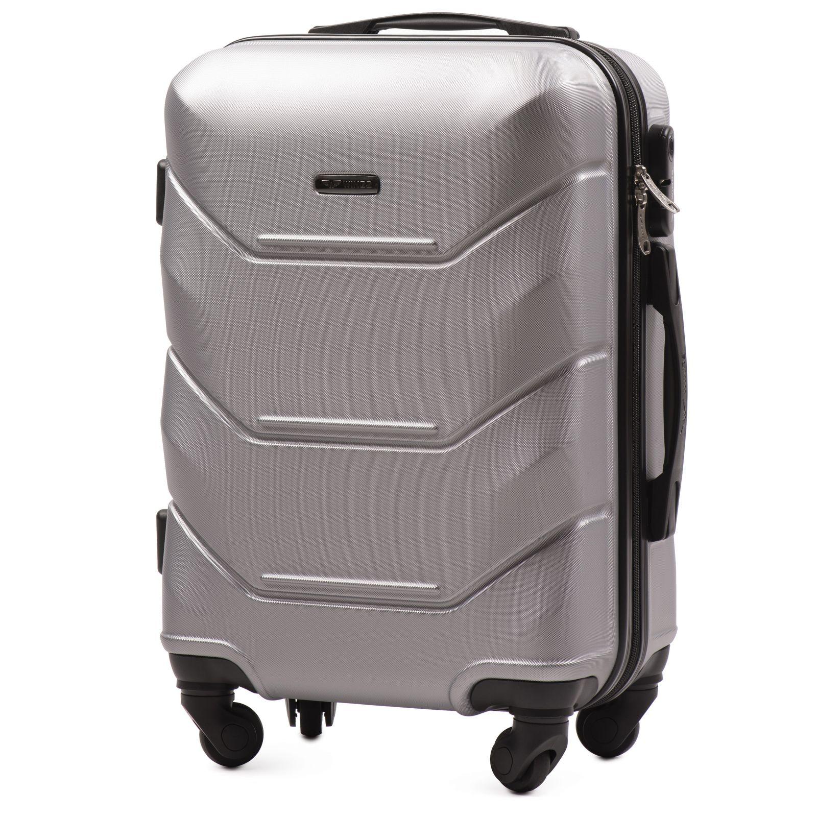 Cestovní kufr WINGS 147 ABS SILVER malý S