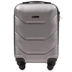 Cestovní kufr WINGS 147 ABS SILVER malý xS