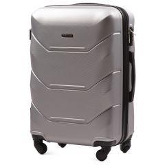 Cestovní kufr WINGS 147 ABS SILVER střední M
