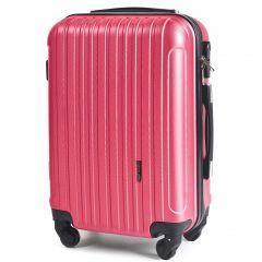 Cestovní kufr WINGS 2011 ABS ROSE RED malý S