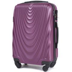 Cestovní kufr WINGS 304 ABS DARK PURPLE malý S