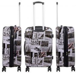 Cestovní kufry sada AMERICA L,M,S MONOPOL E-batoh