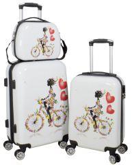 Cestovní kufry sada MARTINIQUE M,S + kosmetický kufřík