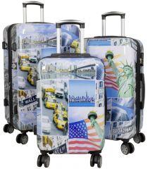 Cestovní kufry sada NEW YORK3 L,M,S