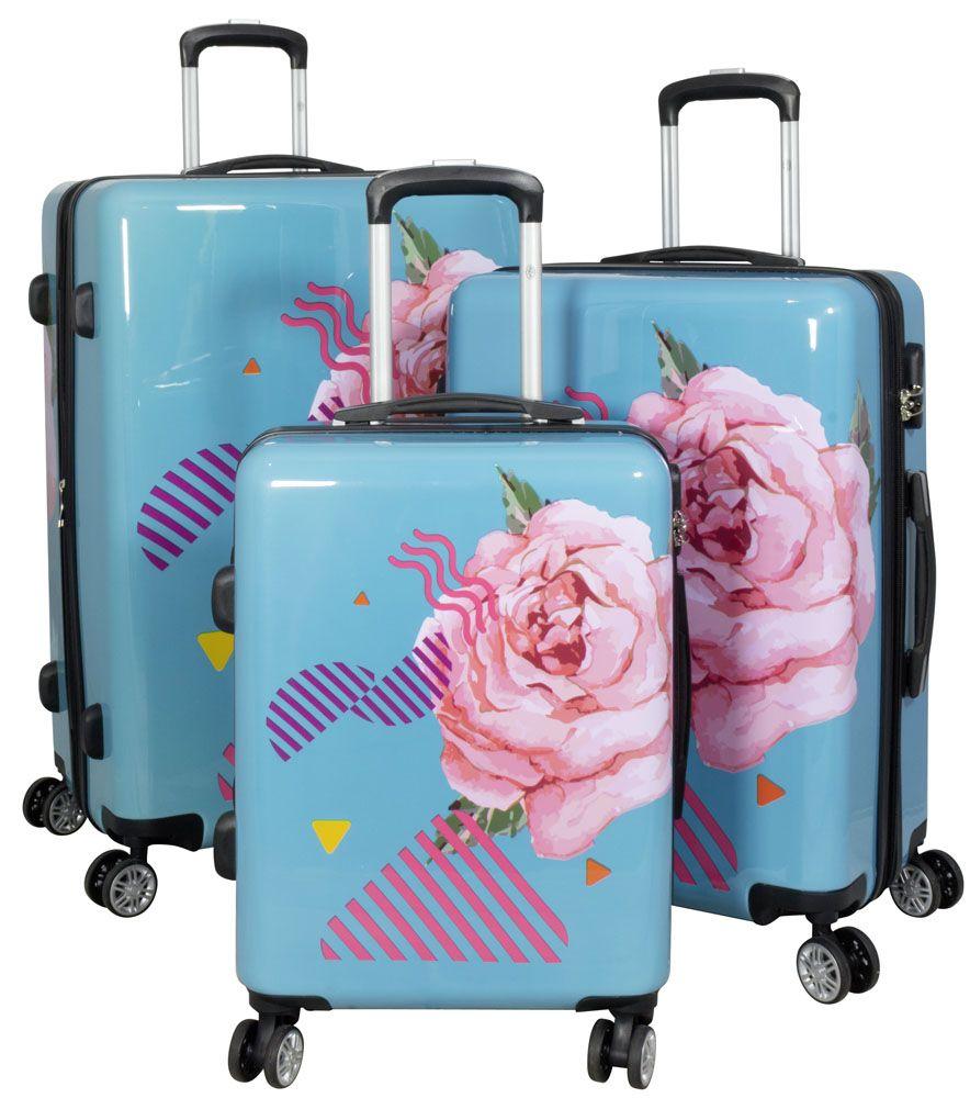 Cestovní kufry sada RŮŽE L,M,S