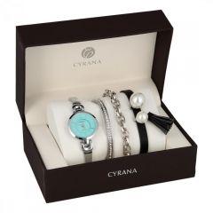 CYRANA dámská dárková sada hodinek s náramky GV19033-M4