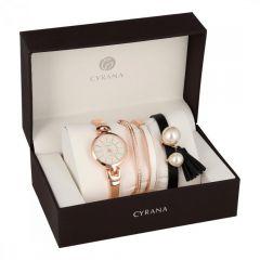 CYRANA dámská dárková sada hodinek s náramky GV19033-M2