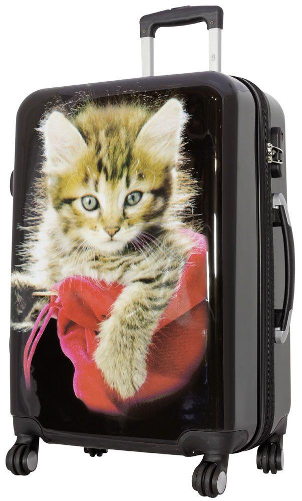 Cestovní kufr KOČKY střední M