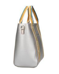 David Jones moderní stříbrná dámská kabelka ve sportovním designu 5933-2 E-batoh