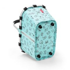 Reisenthel Carrybag XS Kids Cats and dogs mint E-batoh