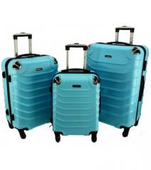 Cestovní kufry sada RGL 730 ABS LIGHT BLUE L,M,S