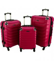 Cestovní kufry sada RGL 730 ABS PINK L,M,S