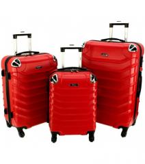 Cestovní kufry sada RGL 730 ABS RED L,M,S