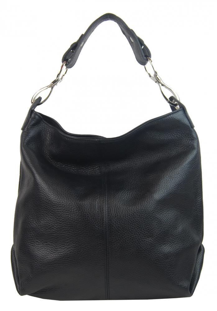 Kožená dámská kabelka Shaila černá