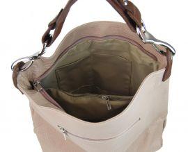 Kožená dámská kabelka Shaila koňaková hnědá Diva E-batoh