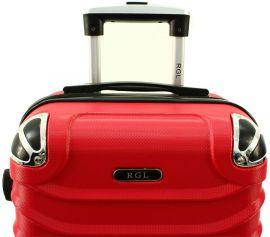 Cestovní kufr RGL 730 ABS RED malý S E-batoh
