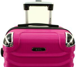 Cestovní kufr RGL 730 ABS PINK malý XS E-batoh