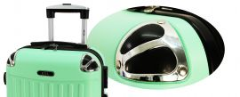 Cestovní kufr RGL 735 ABS BLUE METAL malý S E-batoh