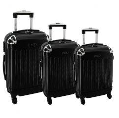 Cestovní kufry sada RGL 735 ABS BLACK  L,M,S