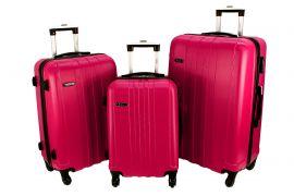 Cestovní kufry sada RGL 740 ABS PINK L,M,S
