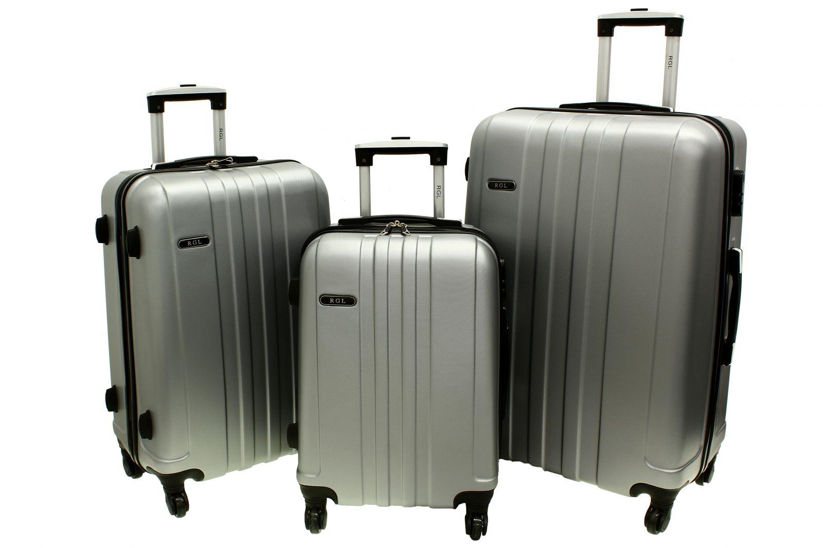Cestovní kufry sada RGL 740 ABS SILVER L,M,S