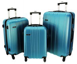 Cestovní kufry sada RGL 740 ABS BLUE METAL L,M,S