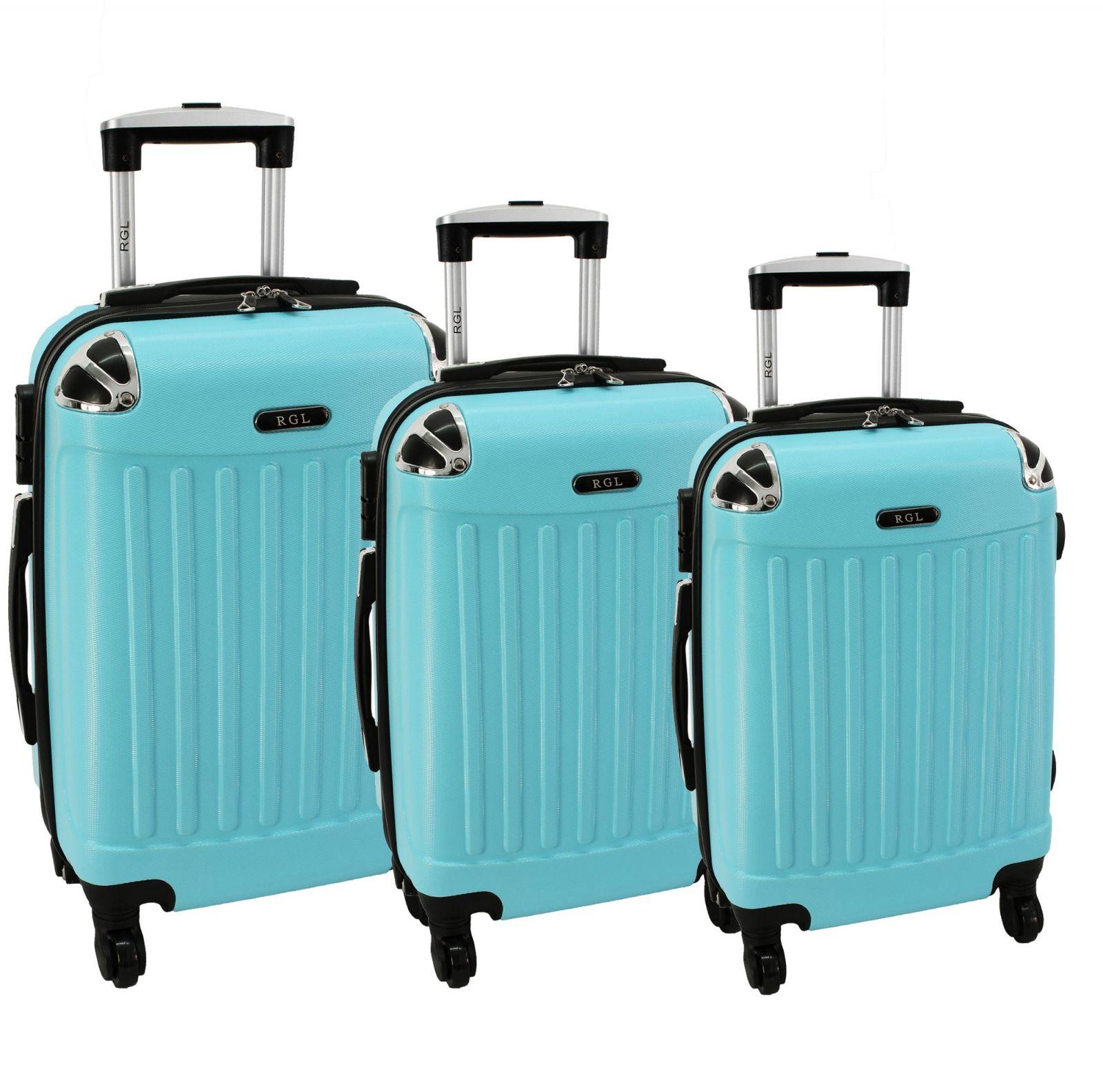 Cestovní kufry sada RGL 735 ABS LIGHT BLUE L,M,S