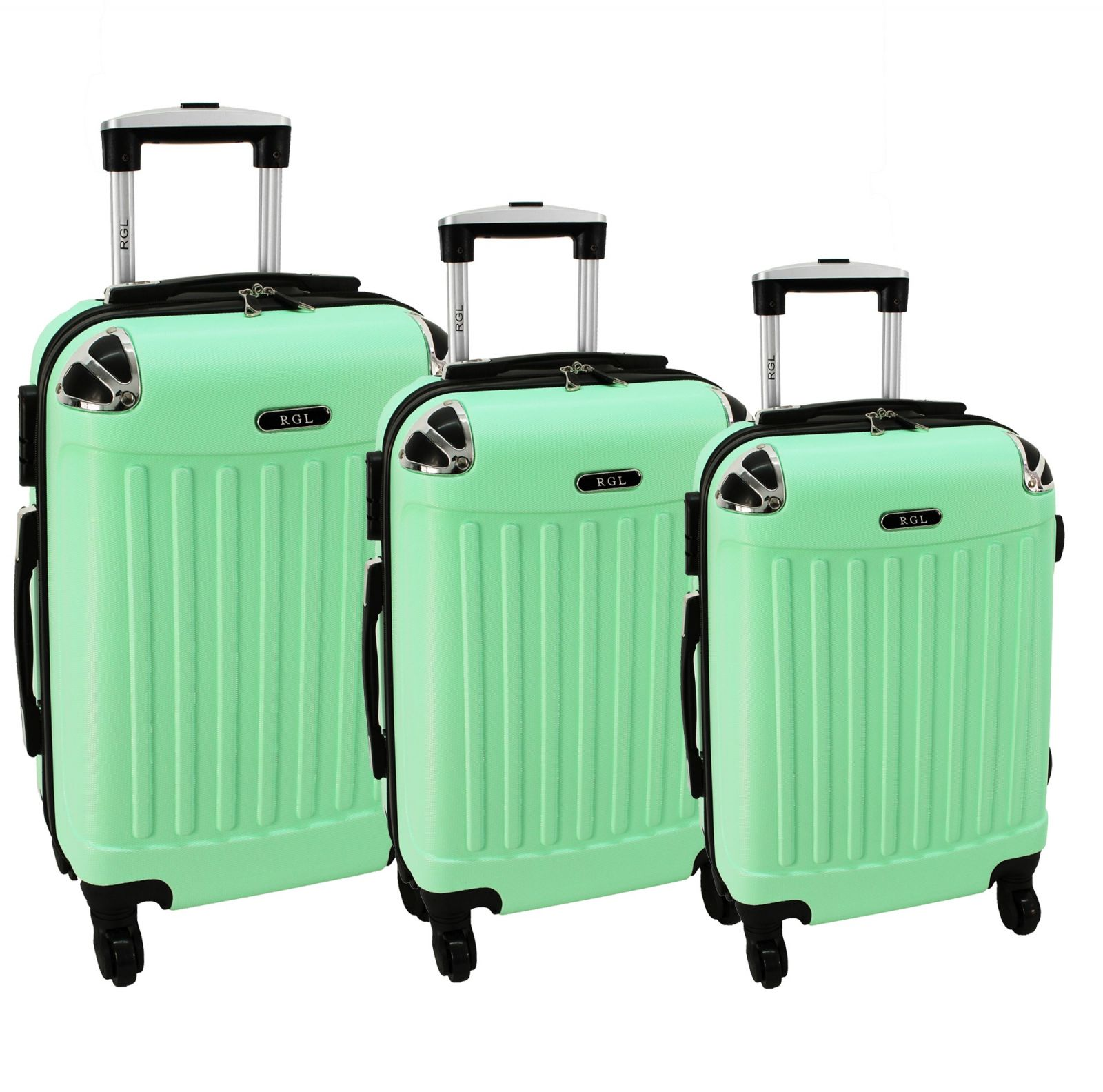 Cestovní kufry sada RGL 735 ABS LIGHT MENTOL L,M,S