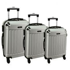 Cestovní kufry sada RGL 735 ABS SILVER L,M,S