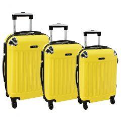 Cestovní kufry sada RGL 735 ABS YELLOW L,M,S