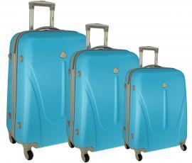 Cestovní kufry sada RGL 883 ABS LIGHT BLUE L,M,S