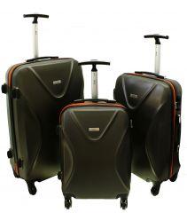 Cestovní kufry sada RGL 750 ABS+TSA GRAFIT L,M,S