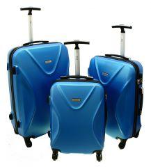 Cestovní kufry sada RGL 750 ABS+TSA BLUE L,M,S