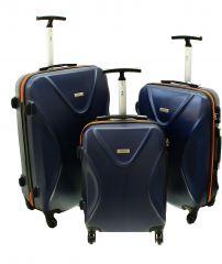Cestovní kufry sada RGL 750 ABS+TSA DARK BLUE L,M,S
