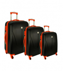 Cestovní kufry sada RGL 883 ABS BLACK-ORANGE L,M,S
