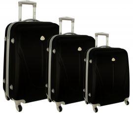 Cestovní kufry sada RGL 883 ABS BLACK L,M,S