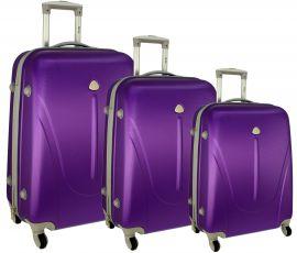 Cestovní kufry sada RGL 883 ABS VIOLET L,M,S