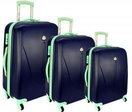 Cestovní kufry sada RGL 883 ABS DARK BLUE L,M,S